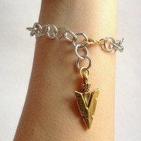 Warrior Arrowhead Bracelet, Geometric Tribal Jewelry
