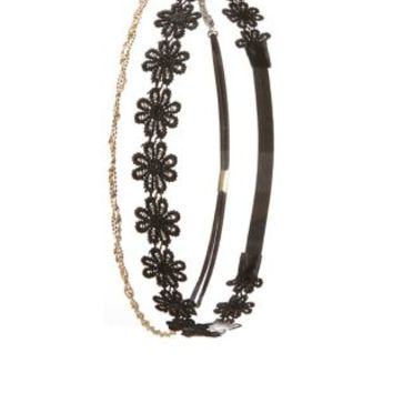 Twisted Chain & Daisy Head Wraps - 2 Pack