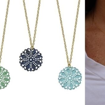 Shabby Chic Filigree Necklaces-Perfect Valentines Gifts