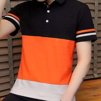 Mens Colorblock Polo Shirt