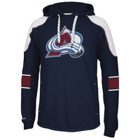 Reebok Colorado Avalanche Faceoff Edge Team Jersey Pullover Hoodie - Navy Blue