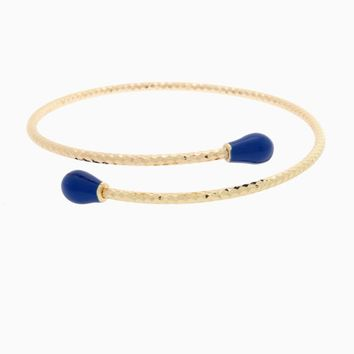Royal Blue Gold Wrap Bracelet