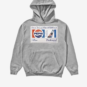 Pepsi x Profound Pigment Washed Hoodie in Cement