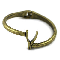 Wishbone Bracelet in Bronze