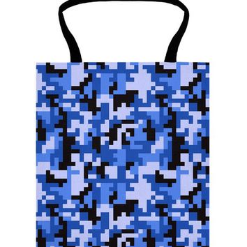Blue and Black Water Pixel Camo pattern