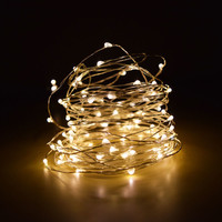 100 Warm White LED Fairy Wire Waterproof String Lights (33ft, AC Plug-In) on Sale Now! At Best Bulk Wholesale Prices