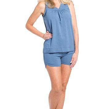 Women's EcoFabric™ Pajama Set with Gift Box - Sleeveless Top and Fitted Short