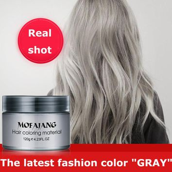1pcs 7 Color Hair Wax Styling Pomade Silver Grandma Grey Temporary Hair Dye Disposable Fashion Molding Coloring Mud Cream