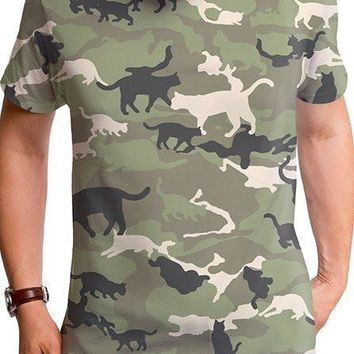 "Men's ""Catmouflage"" Tee by Goodie Two Sleeves (Camo)"