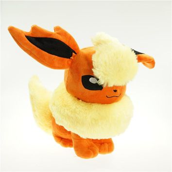"Cartoon Eevee Flareon Plush Toys Stuffed Animals Dolls For Boys And Girls Best Birthday Christmas Gift 12"" 30 CM"