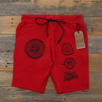 Visionaries Terry Cut Off Shorts Fire Red