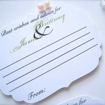 Best wishes cards, advice for the bride and groom cards, wedding comment cards - 25 cards
