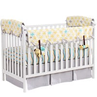 Lemon Zest & Links Organic Nursery Bedding Set (Gray Trim)