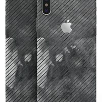 Gray Watercolor Stripes - iPhone X Skin-Kit