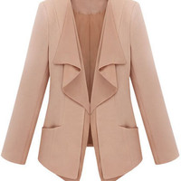 ROMWE | Brief Style Solid Color Pink Suit, The Latest Street Fashion