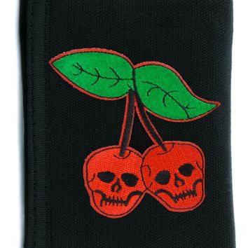 Skull Cherries Tri-fold Wallet w/ Chain Alternative Clothing Death Virgin