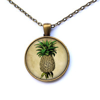 Pineapple pendant Food jewelry Fruit necklace CWAO101