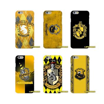 Harry Potter Hufflepuff Logo Soft Silicone phone Case For iPhone X 4 4S 5 5S 5C SE 6 6S 7 8 Plus