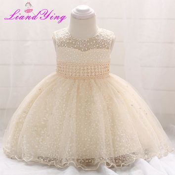 New Birthday Baby Dress Baby Girl Christening Gowns Baby Girl Baptism Dresses First Year Tutu Girl Dress