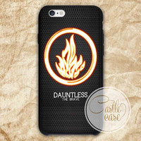 Divergent Dauntless The Brave iPhone 4/4S, 5/5S, 5C Series, Samsung Galaxy S3, Samsung Galaxy S4, Samsung Galaxy S5 - Hard Plastic, Rubber Case