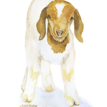 Goat Watercolor