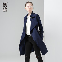 Toyouth Trench Coat 2017 Spring Women Coats Turn-Down Collar British Style Medium Long Outwears Coat