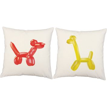 Pop Art Balloon Animals Throw Pillows