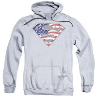 SUPERMAN/ALL-ADULT PULL-OVER HOODIE-ATHLETIC HEATHER