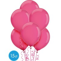 Bright Pink Balloons 15ct