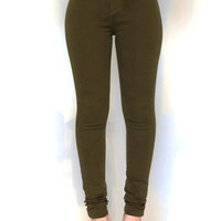 OLIVE THESE HIGH WAIST JEGGINGS
