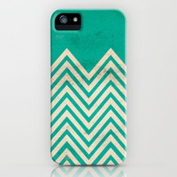 TEXTURED TEAL CHEVRON iPhone Case by Allyson Johnson | Society6