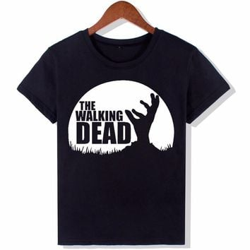 Kiwiqiwei The Walking Dead Fashion T Shirts Women New Funny O Neck Top Letters Tees Hipster Tumblr #293