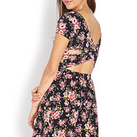 Enchanted Floral Cutout Dress