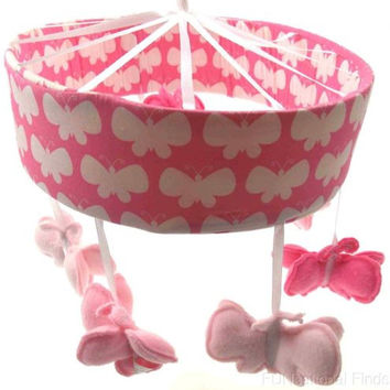 Just Born Safe Sleep Collection Musical Mobile Butterflies Pink Brahms Lullaby