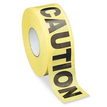 "Sparco Products Barricade Tape, ""Caution"", 3""x1000', Yellow/Black"