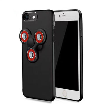 Matte Slim Rotatable Finger Hand Fidget Spinner Phone Case For iPhone 6 6S 7 Plus Luxury 2 In 1 Spinner Coque Cover