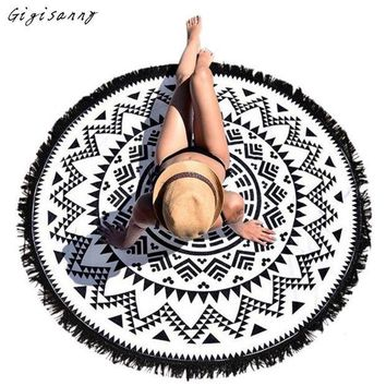 PEAP9GW Round Hippie Tapestry Beach Throw Roundie Mandala Towel Yoga Mat Bohemian Summer Wraps For Women Free Shipping,Jan 7