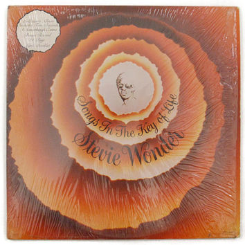 Vintage 70s Stevie Wonder Songs in the Key of Life Soul Double Album Record Vinyl