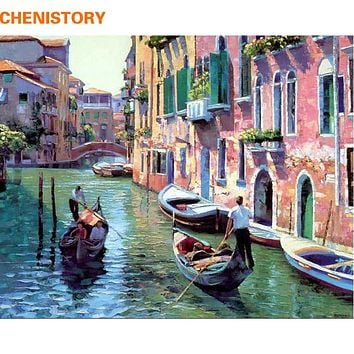 CHENISTORY Picture Painting By Numbers Home Decoration DIY Canvas Oil Painting On Canvas For Living Room Wedding Decor Wall Art