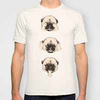 No Evil Pug  T-shirt by Huebucket