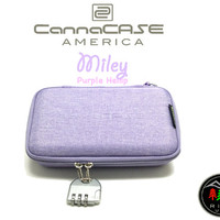 CannaCASE - Miley - Purple HEMP Custom Glass Pipe Case, Customizable Foam, Odor Control, Carabiner Clip And Lock Included