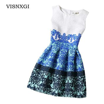 VISNXGI Bottoming Dresses Women Summer Style Dress Vintage Sexy Party Vestidos Plus Size Female Dress Boho Clothing Bodycon