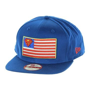 New Era 9Fifty Dc Comics Superman Flag Pop Snapback Logo Hat Cap 8bac099a13f