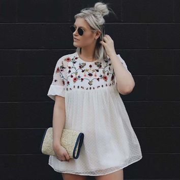 Wichita Embroidered Dress