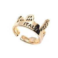 Italy Tower of Pisa and Remant Souvenir Ring