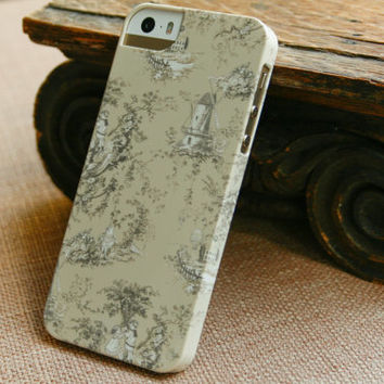 Tan Toile iPhone Case, Pretty Cell Phone Cover, iPhone 5S, iPhone 5C Case
