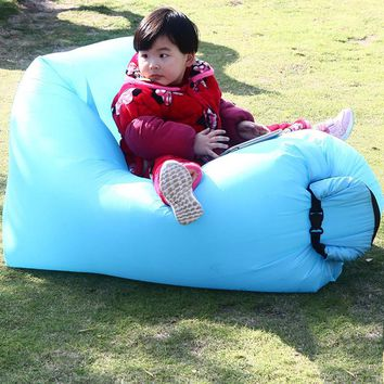Outdoor Mini Square-Headed Inflatable Couch Sofa Fast Air Inflatable Hammock For Adult Children