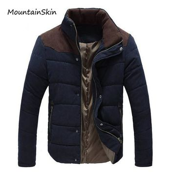 Mountainskin New Winter Men's Jacket Warm Thick Men Parkas Fashion Thermal Solid Male Coats Casual Brand Clothing LA144