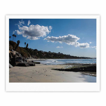 "Nick Nareshni ""Clouds Over Swamis Beach"" Blue Brown Fine Art Gallery Print"