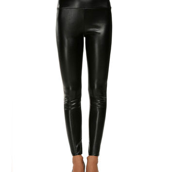 Strechable Pencil Synthetic Leather Pants